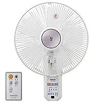 山善 30cm壁掛扇風機 (リモコン)(風量4段階) 入切タイマー付 ホワイト YWX-K303(W)