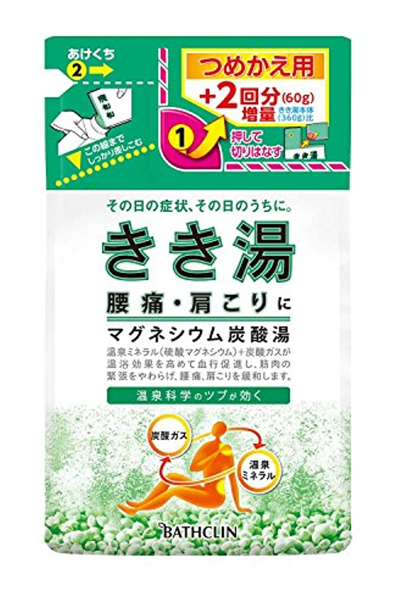 ヘッドレス歯車キャッシュきき湯 マグネシウム炭酸湯 つめかえ用 420g 入浴剤 (医薬部外品)