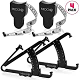Body Tape Measure and Skinfold Caliper for Body Set - (Pack of 2) - Skin Fold Body Fat Analyzer and BMI Measurement Tool by MEDca