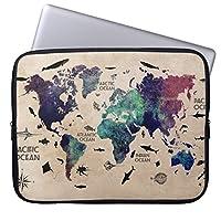Recaso(レカソ)ファッション 17 / 17.3 / 17.4インチノートPCスリーブ ネオプレン製 男女兼用 タブレット・ラップトップ インナーバッグ 世界地図