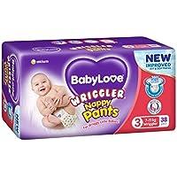 BABYLOVE Nappy Pants Wriggler Nappy Pants 7-11kg (38 pack x 2), Wriggler, 4 count
