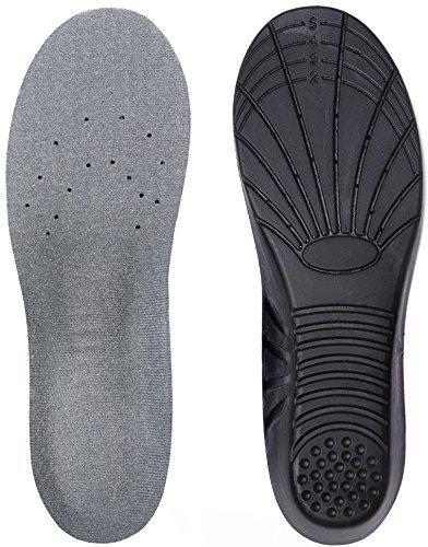 【新着セール】衝撃吸収のあるインソール クッション性があるのでスポーツ/立ち仕事/でも活躍!通気がよく抗菌防臭もあり、靴の似合わせてサイズ調整できる中敷きです … (M, ブラック) size_M