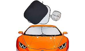 kinder Fluff Car Windshield sunshade-210T for Ultimate uv/Sun Protection for car - windshield sun shade (Standard)