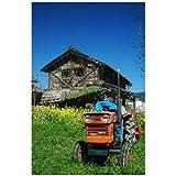 ポストカード「兵庫県赤穂市 トラクターと古い家 」photo by 山谷将生  はがき絵葉書
