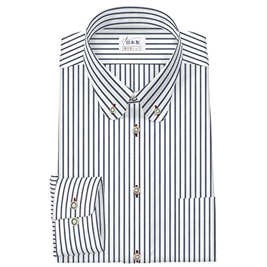 ボア驚いたことにマルコポーロワイシャツ 軽井沢シャツ [A10KZB412]ボタンダウン ラウンド コーデュラ 摩擦に強い ネイビー らくらくオーダー受注生産商品