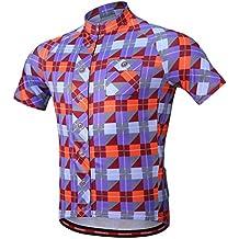 MagiDeal Men's Women's Short Sleeve Cycling Clothing Jerseys Tops for Outdoor Sports MTB Bike Biking T Shirt Sportswear Clothing