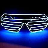 LED サングラス メガネ パーティー イベント クラブ 大人気に 選べる10色 標準 タイプ (白)
