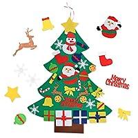 Aniwon フェルトクリスマスツリーセット DIYドア壁装飾 クリスマスデコレーション オーナメント付き