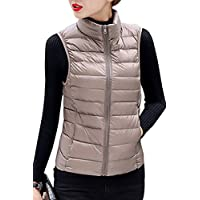 YMING Women's Lightweight Sleeveless Down Puffer Coat Fall And Winter Vests