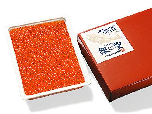 銀聖いくら醤油漬 400g (北海道日高沖産ぎんせいのイクラ) ギンセイいくらしょうゆ漬け 北海道の横綱といわれるサケ (ブランド鮭) 鮭より旨い鮭