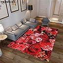 カーペット 3畳 2畳 ラグ 洗える ラグマット 滑り止め 花柄 ナチュラル ホットカーペット対応 リビング 部屋 かわいい きれい ベッド 絨毯 グーリン レッド 青 赤
