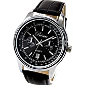[tv11][スワンユニオン] swanunion 在庫[少][ラウンドスクエアビッグフェイス腕時計]ブラック 黒