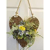 Large Willow Heart壁バスケットwithジュートロープハンガー – 花は含まれていません