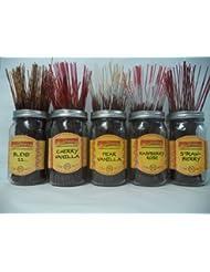 Wildberry Incense Sticksフルーツ香りセット# 1 : 4 Sticks各5の香り、合計20 Sticks 。