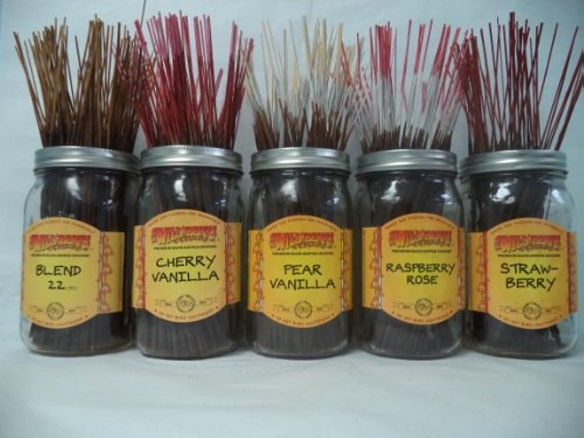 ひばり紫の戦争Wildberry Incense Sticksフルーツ香りセット# 1 : 4 Sticks各5の香り、合計20 Sticks 。
