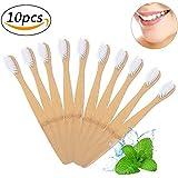 竹の歯ブラシ 環境保護の歯ブラシ 柔らかいブラシ 分解性 耐久性 ホワイト 10本入