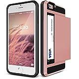 iPhone 6s / 6 ケース カード収納 VERUS Damda Slide 背面 カード ケース 耐衝撃 二重構造 衝撃吸収 カバー [ アイフォン 6s / 6 専用 ] ローズゴールド