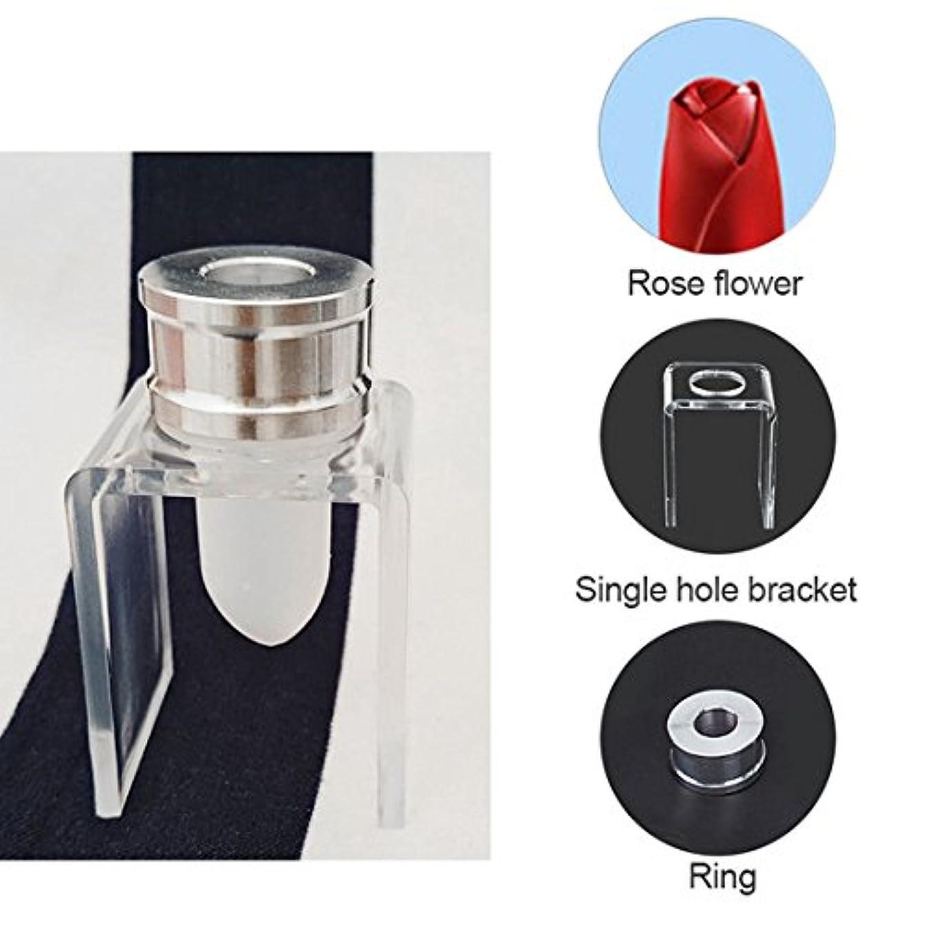 ルーム耳レパートリーSODIAL 3セット DIY 12.1mm シンプルな口紅の充填チューブ シリコーン金型 アルミリング シングルホールブラケット 手作りの口紅ツール シンプルなセット バラ