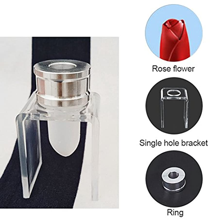 SODIAL 3セット DIY 12.1mm シンプルな口紅の充填チューブ シリコーン金型 アルミリング シングルホールブラケット 手作りの口紅ツール シンプルなセット バラ