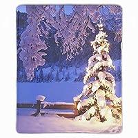 マウスパッド ノートブック デスクトップ コンピューター アクセサリー ミニ クリスマスツリー オフィス用品 マウスマット