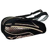 MIZUNO(ミズノ) テニスバッグ ラケットバッグ 硬式・ソフトテニス/バドミントン 6本入れ 63JD6003