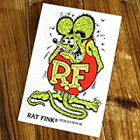 ラットフィンク ステッカー RatFink USA サイズL グリーン_SC-RDUSA021GR-MON