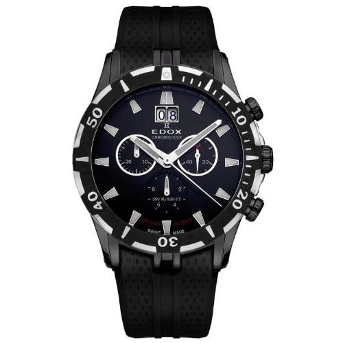 [エドックス] EDOX 腕時計 Grand Ocean Chronodiver Big Date Chronograph Black PVD Mens Luxury Sport Watch クォーツ 10022-37N-NIN [TimeKingバンド調節工具& HARP高級セーム革セット]【並行輸入品】