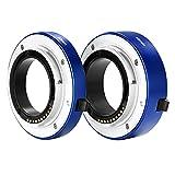 NEEWER オートフォーカス対応マクロエクステンションチューブセット(10mm/16mm) ソニーEマウントミラーレスカメラ NEX3/3N/5/5N/5R/A6000/A6300 フルフレームカメラA7 A7S/A7SII A7R/A7RII A7IIに対応 青色 【並行輸入品】