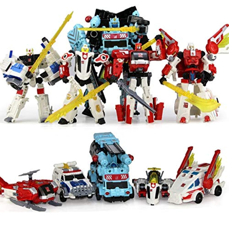 LIRIDP 変形ロボット 子供の変形玩具恐竜5イン1変形ロボットモデルの組み合わせ楽しい玩具男の子女の子子供ギフト アクションマップ車両