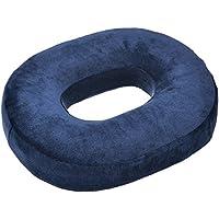 hiport (ハイポート) 低反発円座クッション腰痛 猫背 痔 姿勢矯正 デスクワーク ブルー