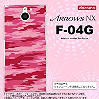 F04G スマホケース ARROWS NX F-04G カバー アローズ NX 迷彩B ピンクC nk-f04g-1164