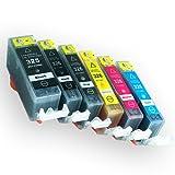 Canon(キャノン) 純正互換インクカートリッジ BCI325+326 6色セット 残量表示機能付 Angelshopオリジナル (JAN:4580400481495)