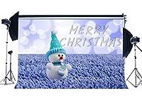 gladbuy 7x 5ftビニール写真バックドロップMerryクリスマス雪だるまラベンダーフィールドBokeh Halos Glitter Sequins Xmas Backdrops for Baby Happy New Year背景写真スタジオ小道具xm449