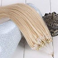 FidgetGear 50 / 100S容易なマイクロループシリコーンビーズのRemyの人間の毛髪延長16-26Inch #613最軽量金髪