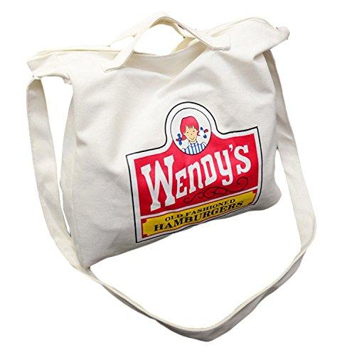 (チェリーレッド) CherryRed レディース トートバッグ グラフィックトート キャンバス バッグ 帆布 ホワイト
