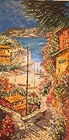 絵画 油絵 マルコ 作 「メディテラーネオ」イタリア風景画 インテリア