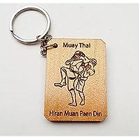 ムエタイ、タイボクシングキーチェーンHiran Muan Paen din