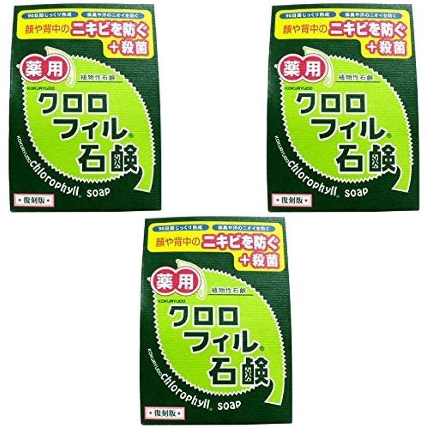 外側衣装吸収【まとめ買い】クロロフィル石鹸 復刻版 85g (医薬部外品)【×3個】