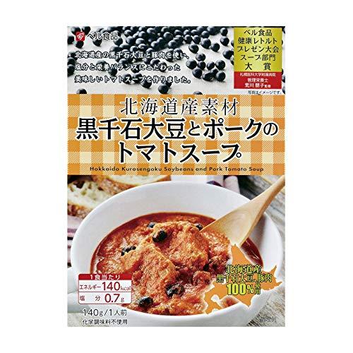 ベル食品 北海道産素材黒千石大豆とポークのトマトスープ140g