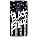 CaseMarket 【ポリカ型】 docomo Disney Mobile F-07E ポリカーボネート素材 ハードケース [ Black American BLACK STAR ]