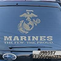 USMC United States Marine Corps海兵隊イーグルGlobeアンカー車トラックデカールステッカービニールDie Cut The Fewの誇りno背景Pickカラーサイズ 24'' (61.0cm) ブラック 20171102s12