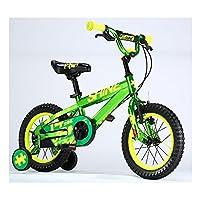 ZHIRONG 子供用自転車 トレーニングホイール付きの少年の自転車と少女の自転車 12インチ、14インチ、16インチ、18インチ アウトドアアウト ( 色 : 緑 , サイズ さいず : 14 inch )