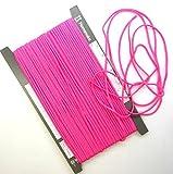 【手芸】カラーロープ(ひも)(細)濃いピンク(06)(★1mで32円です。10cm単位ではありません)