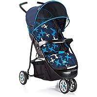 乳母車 ベビートロリー子供の三輪車の折りたたみポータブルベビートロリー 使いやすい (色 : 青)