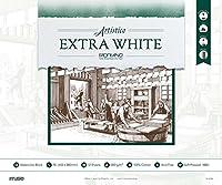 ミューズ 水彩紙 エキストラホワイトブロック 細目 F8 12枚入 FX-4708