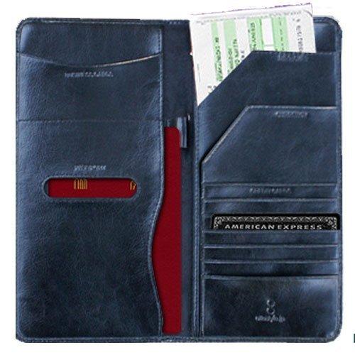 ottostyle.jp 海外旅行に重宝するパスポートケース (トップスキンカウレザー仕様) (ブラック)