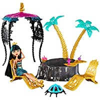 輸入モンスターハイ人形ドール Monster High, 13 Wishes, Desert Fright Oasis Playset with Cleo De Nile Doll [並行輸入品]