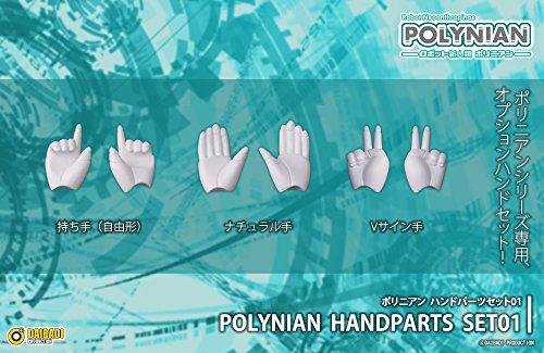 ポリニアン ハンドパーツセット01 ノンスケール PVC&ABS製 塗装済み完成品