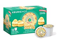 The Original Donut Shop Vanilla Cream Puff, Keurig K-cups, 12 Count (Pack of 6) by Donut Shop Classics