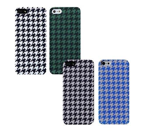 【ルイレイ】 LUILEI iPhone6sスマホケース 手帳型全機種対応 galaxyスマホケース ハウンドトゥースチェックのハードケース (iPhone X, Blue/Gray) [並行輸入品]...